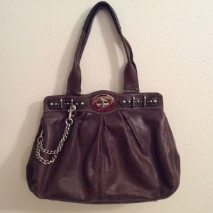 Coach limited edition pewter carryall EUC